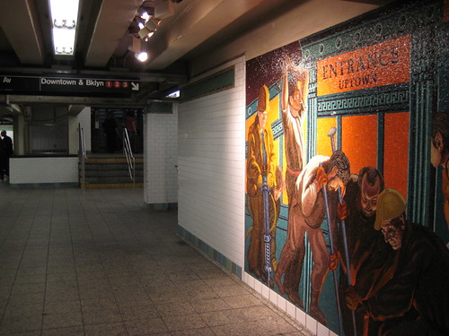 Mosaics at 42nd Street Subway Station