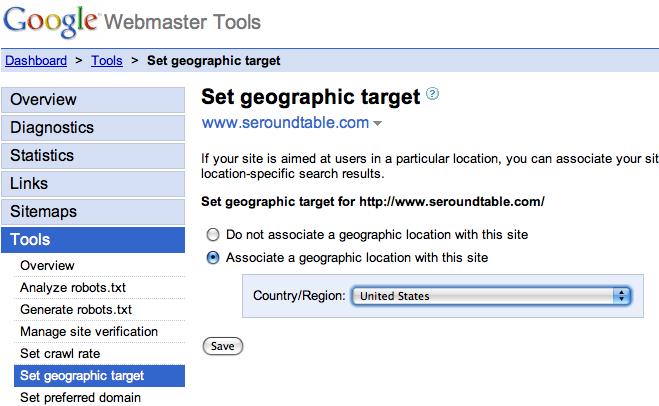 Google Set Geographic Target