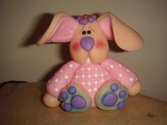 coelhinho (Alane  maria julia biscuit) Tags: cute cores handmade artesanato artesanal biscuit fofo cor colorido porcelana porcelanafria feitoamao