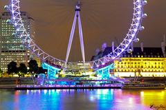 Closer to the EYE (CornrSton) Tags: uk color london night nightshot july londoneye cornerstone longexposer  digitalcameraclub colornight  colorphotoaward aplusphoto colourartaward pridelondoneye  londoneyejuly