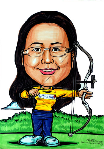 Caricature for CitiGroup - archery