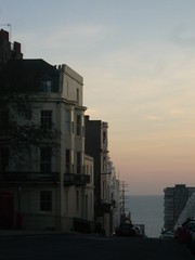 The Sea from Powis Square Brighton