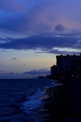 (Vionette Torres) Tags: ocean pink blue light sunset sky sun beach me water beautiful night clouds buildings pier sand solitude waves slow florida south low adventure commercial zen shutter hdr blvd twighlight flickrsbest ftllauderdale