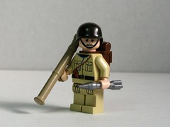 BrickArms Bazooka M9 prototype (left) (Dunechaser) Tags: usa soldier army us lego wwii worldwarii prototype weapon ww2 bazooka rocket accessories minifig minifigs custom m6 weapons worldwar2 launcher prototypes allies m9 accessory allied brickarms