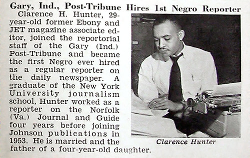 Gary Indiana Post Tribune Hires First Black Reporter - Jet Magazine February 17, 1955 por vieilles_annonces.