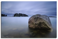 The Big Rock (DanielKHC) Tags: longexposure sea seascape digital finland landscape interestingness high helsinki nikon bravo rocks dynamic explore minimalism range dri increase hdr cpl blending d300 dynamicrangeincrease nd400 uutela nd8 interestingness48 4exp danielcheong bratanesque danielkhc tokina1116mmf28 explore19oct08