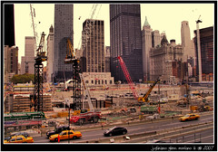World Trade Center Ground Zero Fall 2007 (j glenn montano 3) Tags: world new york 2001 city house fall yellow century 21 manhattan cab glenn nypd 9 ground center 11 september ten trade financial zero fdny montano 2007 justiniano colourartaward