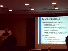 Brian Kelly - Benefits of Library 2.0