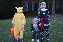 Pikachu, Cate, and McKenzie the pirate