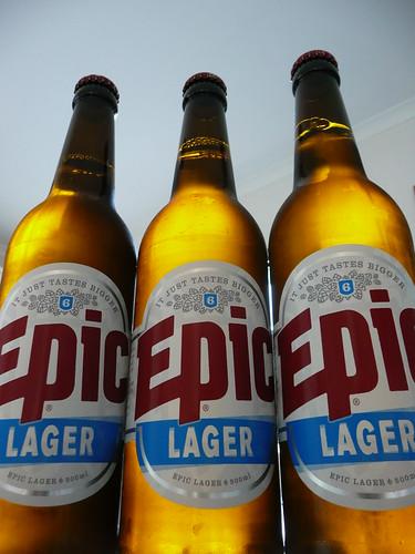 Epic Lager Big Bottles (500ml)