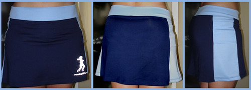 running skirt blue