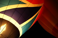 """Night Glow"" (Karyatis) Tags: light hot colour portugal night fire lisboa lisbon air balloon hotairballoon distillery nightglow karyatis"
