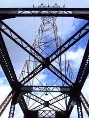 Mitchell Island Pier (park) (~ Blu ~) Tags: bridge redwhite blu railway richmond powerlines mitchell guessed guesswherevancouver pointirisrowley