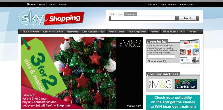 Sky Shopping homepage