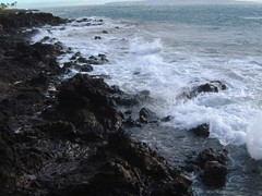 MAUI-BREAKING WAVES (SnapShotStar) Tags: ocean sunset sea island lava scenery pacific shoreline maui shore seashore kihei volcanicrock sunseaandsand 10millionphotos