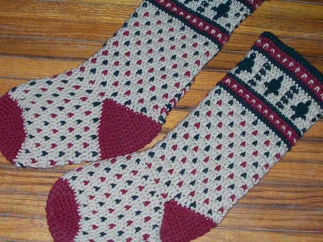 Ravelry: Fair Isle Christmas Stocking pattern by Kathleen Stuart