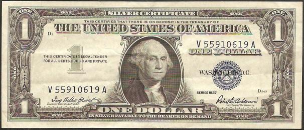 1 dollar USA 1957, P419 - XF