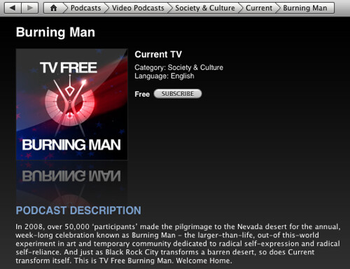 Current's TV Free Burning Man on iTunes