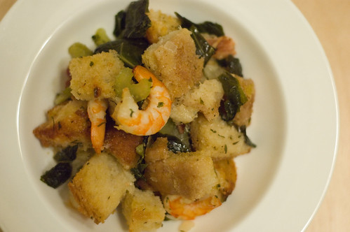 bread stuffing with shrimp, bacon and collard greens - eat! craft ...