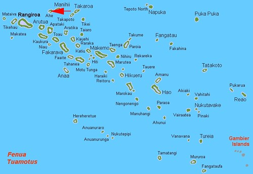 Ahe - Tuamotus Locator Map