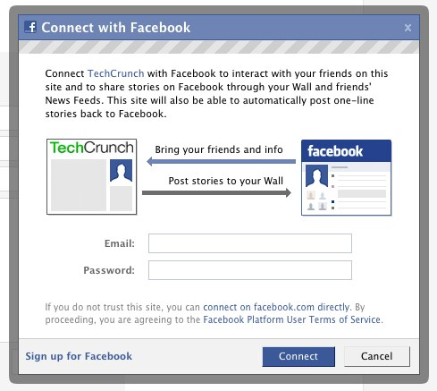facebook connect: What about phishing? (update: things are changing