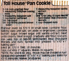 Bars - Toll House Pan Cookie SB0004 (Eudaemonius) Tags: house classic vintage recipe bars cookie toll pan recipes eudaemonius bluemarblebountycom 20081211 sb0004