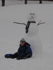Jeremy and Bob (Carrie J. Bosch) Tags: winter snow storm fall ice rain sticks snowman rocks pennsylvania frosty sleet