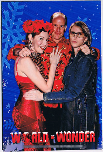 Calpernia, Randy and Andrea at the World of Wonder Christmas Party 2008
