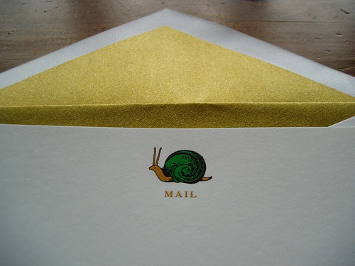 Kate Spade Snail Mail notecard detail