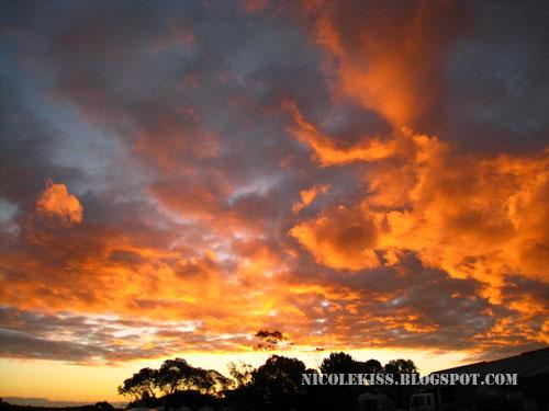 barossa valley evening sky