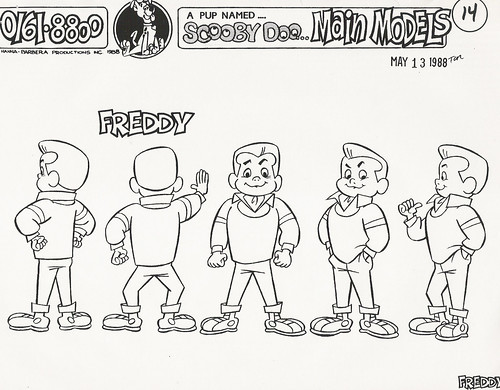 A Pup Named Scooby-Doo Freddy model sheet, 1988 - a photo on
