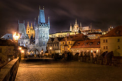 Charles Bridge, Prague (Michal ejchan) Tags: bridge night cityscape czech prague sightseeing praha charlesbridge hdr praguecastle blueribbonwinner exphoto