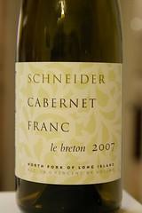 """2007 Schneider """"Le Breton"""" Cabernet Franc"""
