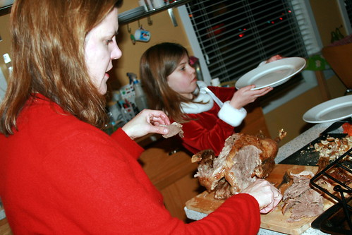 Carving the Christmas Goose