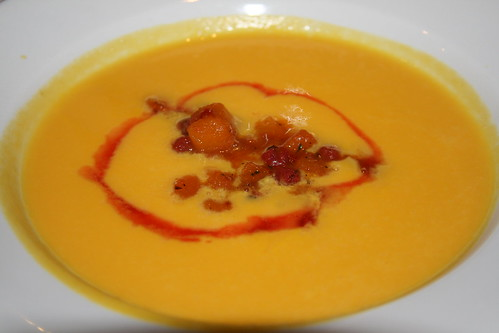 Winter Squash Soup with Sauteed Currants