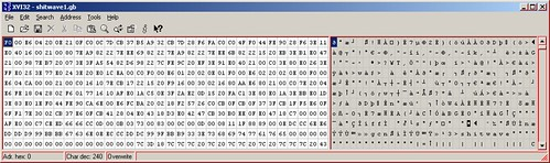 Shitwave in a hex editor