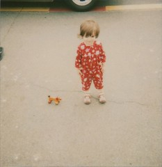 (sweetnseattle) Tags: seattle portrait girl polaroid toddler sally alkibeach expired pulltoy 779 roidweek2009