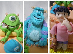 Monsters Inc Details / Detalhes Monstros S.A. (Dragonfly Doces) Tags: mike cake children disney pasta boo infantil pixar americana bolo monsters sa sully inc monstros gumpaste