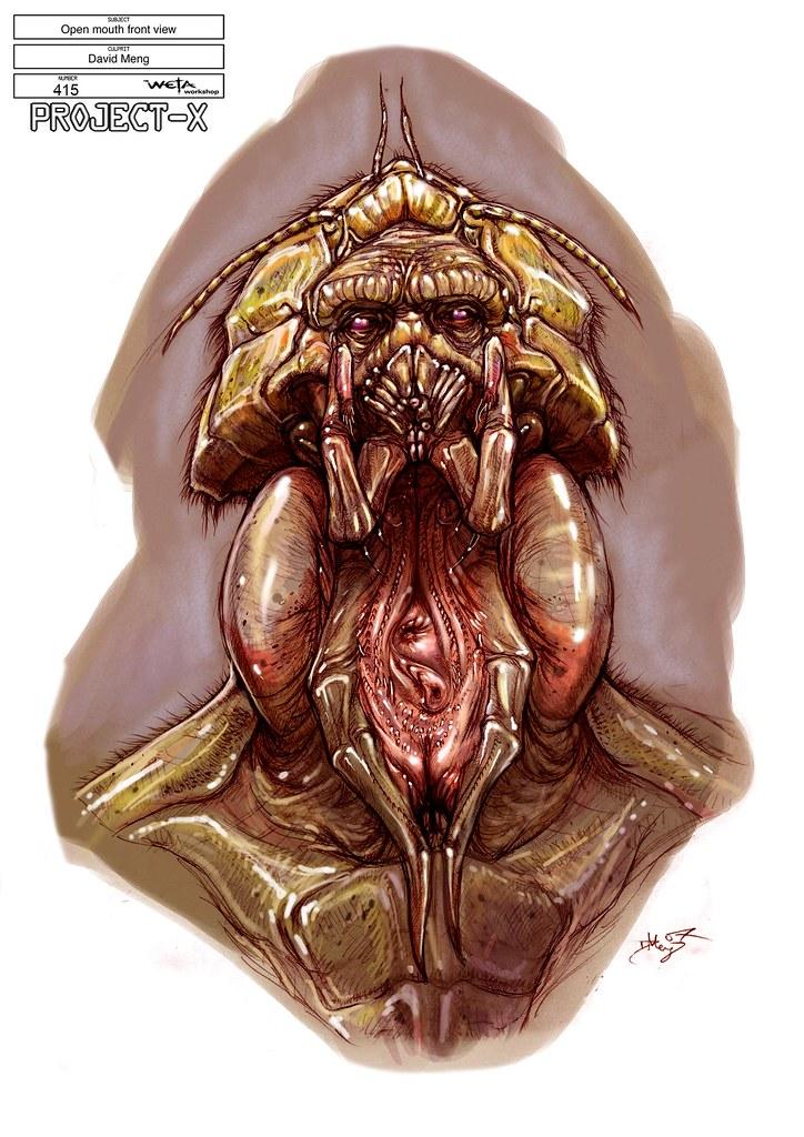 Boceto Sector 9 cabeza frontal