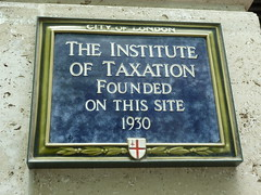 Photo of Institute of Taxation blue plaque