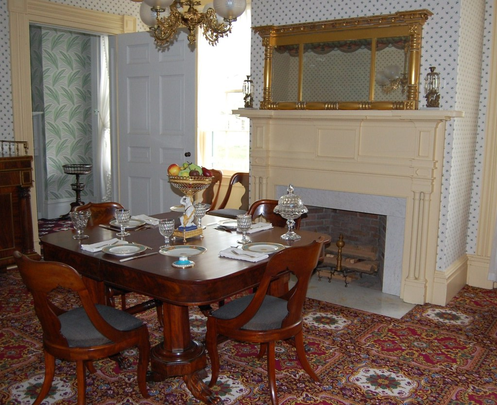 Genesee Country Museum - Livingston-Backus House - Dining  Room