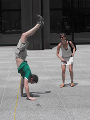 Handstand (softjunebreeze) Tags: chicago downtown michiganave womensrights equalrights daleyplaza antirape sexpositive womensempowerment slutwalk