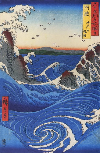 Hiroshige_Wild_sea_breaking_on_the_