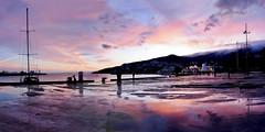 Winter dawn in Yalta (Sasha_Photos) Tags: sunset evening promenade crimea yalta