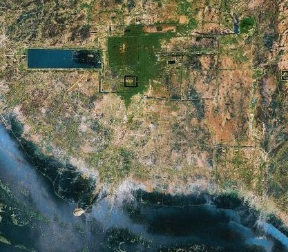 map satellite angkor