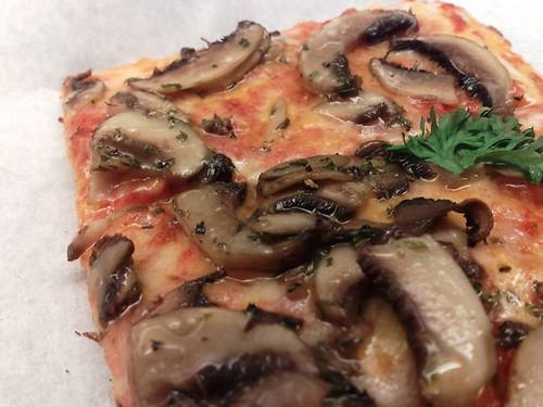 Mushroom Pizza Al Taglio