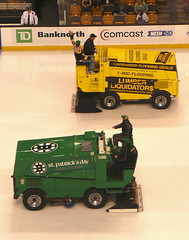 Like two zambonis crossing in the night...