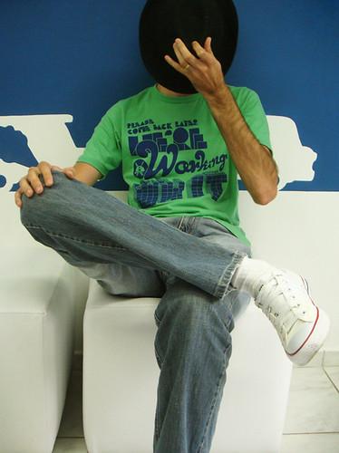 T-Shirt Face Hiding Poser Picture