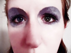 Day 86/365: Ziggy Stardust (yo_steedgirl) Tags: selfportrait sp davidbowie day86 alieneyes ziggystardust hunkydory lifeonmars 365days ihadgreatfunwiththis eyemakeupdonebyme removalofeyebrowsdonebygimp pupilsdonebygimp