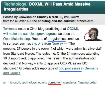Slashdot OOXML